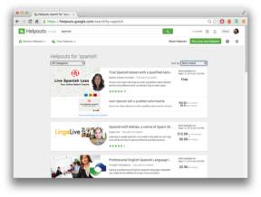 Google Helpouts Spanish