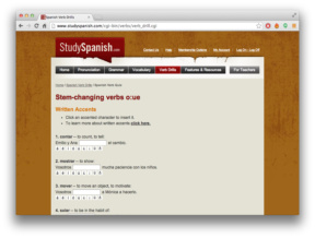 Study Spanish Verb Drills